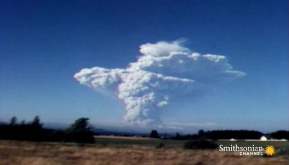 Footage of the 1980 Mount St. Helens Eruption