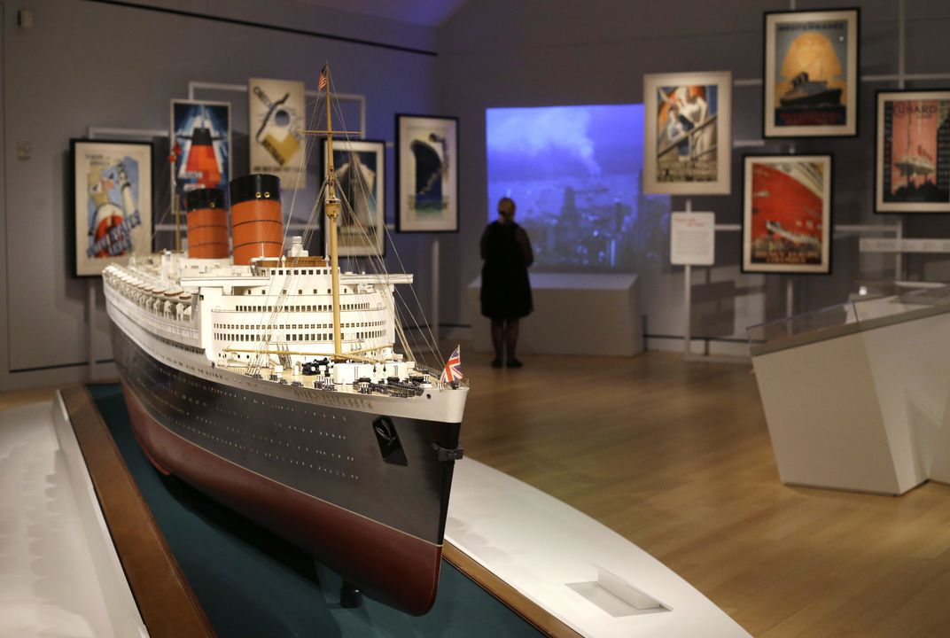 Exhibit explores heyday of Atlantic Ocean luxury liners