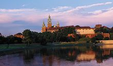 Vistula River and Wawel Castle in Krakow Poland