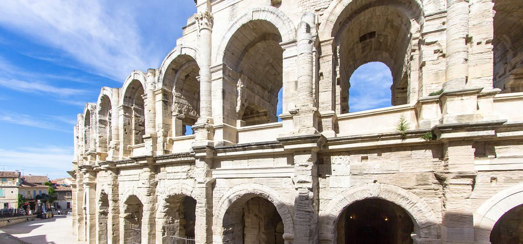 The Roman amphitheater in Arles