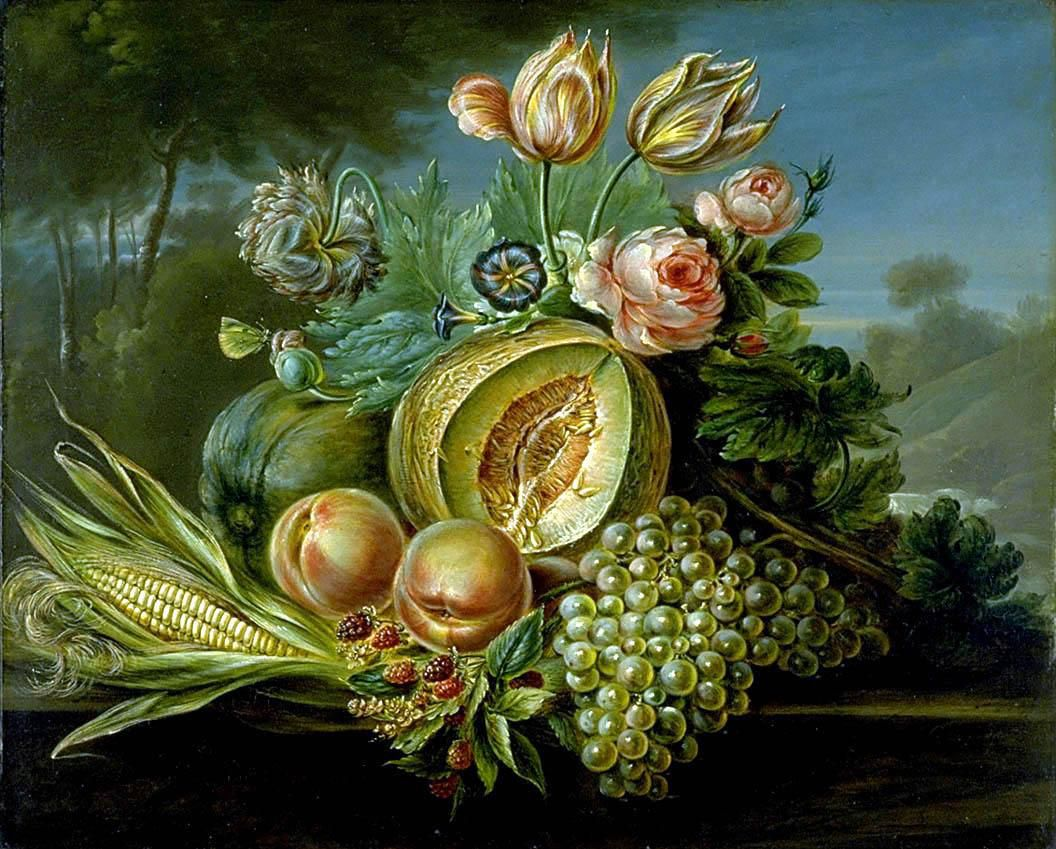 Still Life with Fruit and Flowers, 1824
