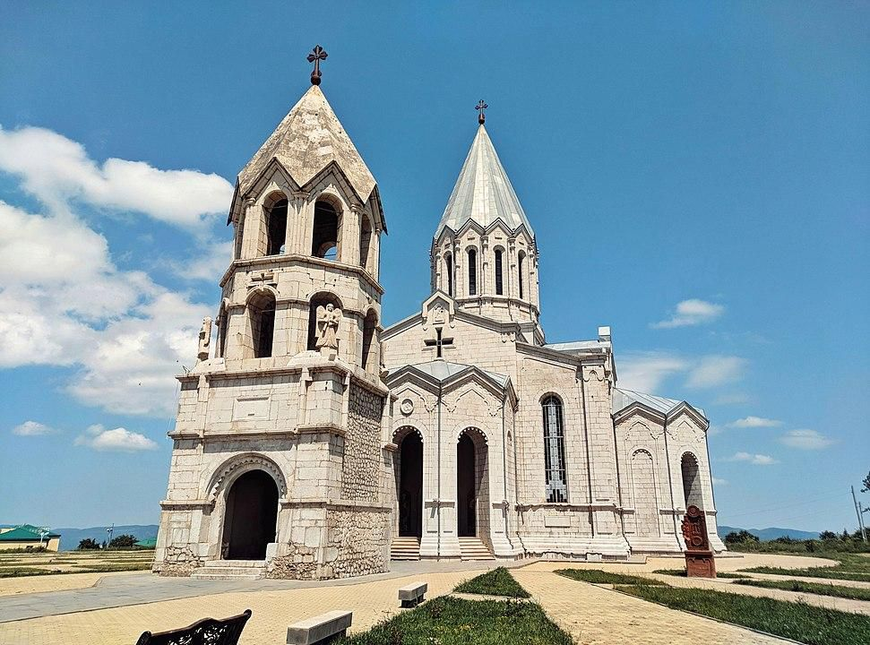 View of the Ghazanchetsots Cathedral in 2018