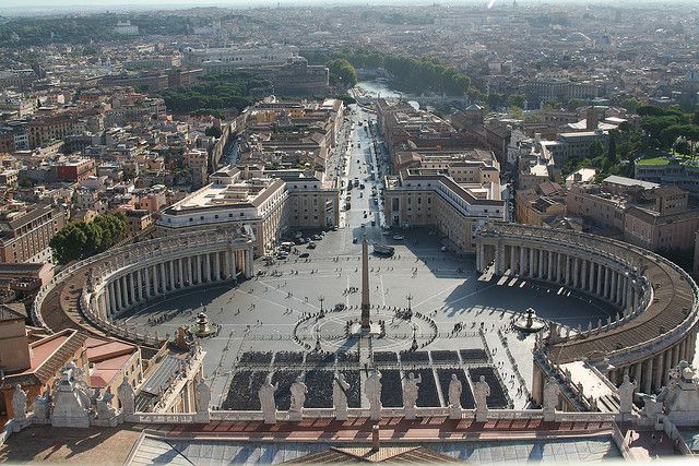 St Peter's square, as seen from St Peter's Basilica