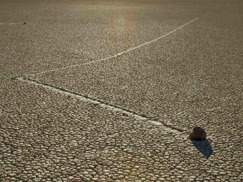 moving stones in Death Valley