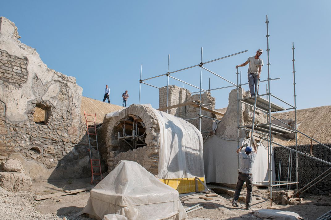 Stabilizing efforts in Pompeii