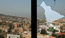 Beirut, from an apartment damaged by Hezbollah shelling