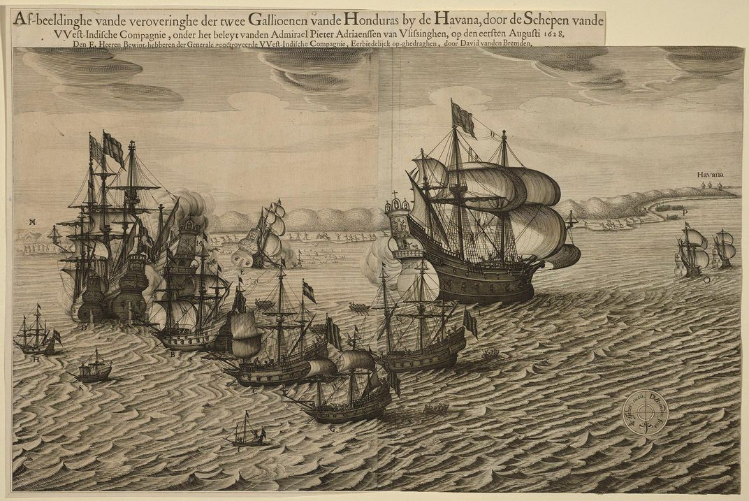 scene of the Siege of Havana in 1628