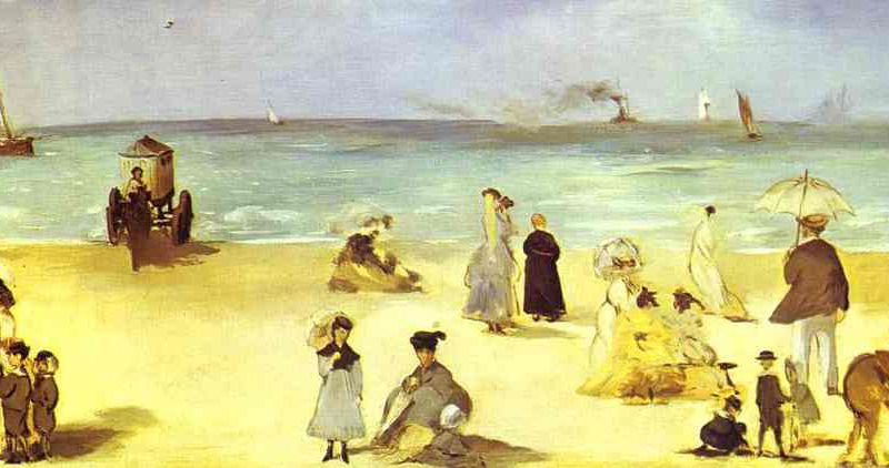 Beach at Bologne Edouard Manet