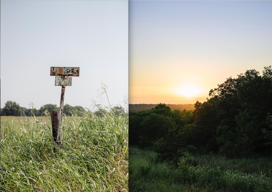 H_field and grassland in Oklahoma diptych