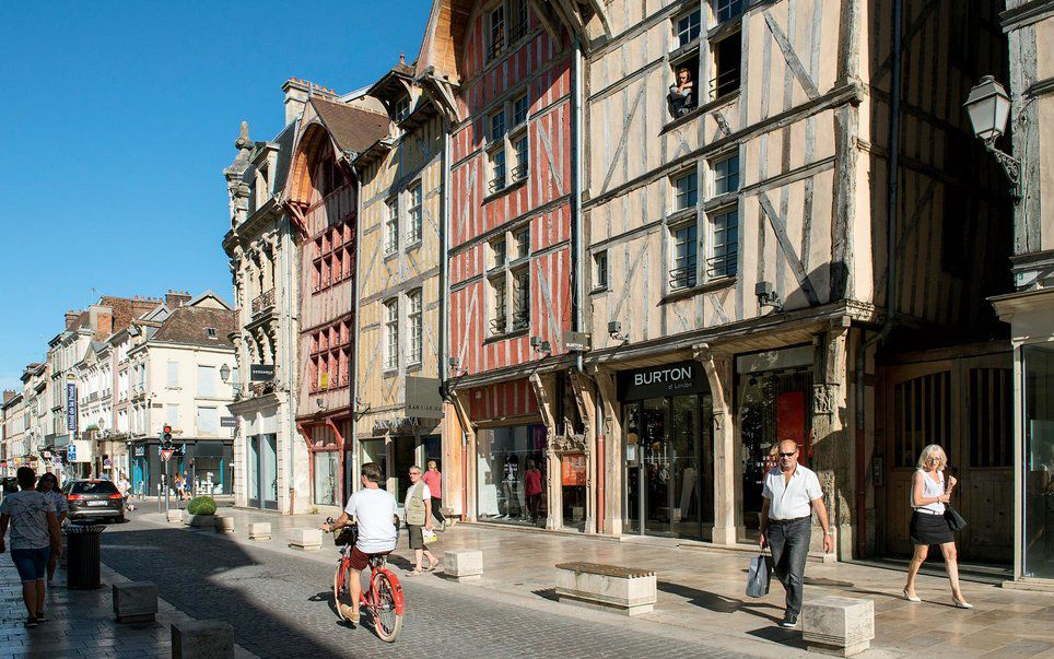 A picturesque street in Troyes