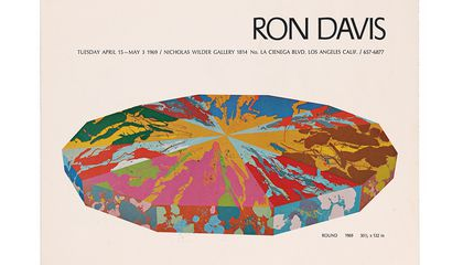 Exhibition announcement for Ron Davis exhibition at Nicholas Wilder Gallery, 1969. Ronald Davis papers, 1960-2017. Archives of American Art, Smithsonian Institution.