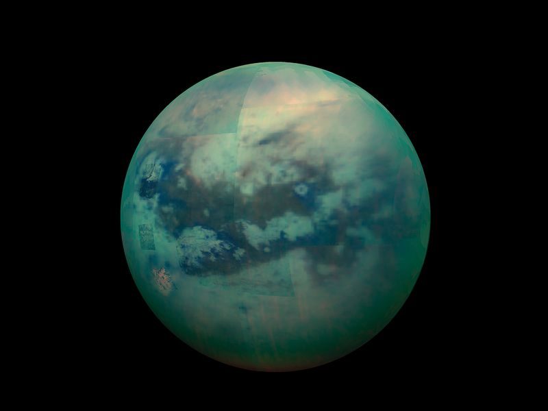 Titan infrared view