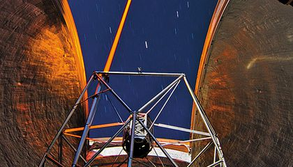 Adaptive optics and lasers are giving ground-based telescopes better-than-Hubble views.