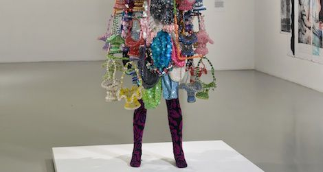 "Nick Cave's exuberant sculpture, ""Soundsuit,"" from 2009 marks a recent application of assemblage."