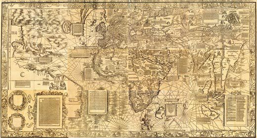 The waldseemller map charting the new world history smithsonian waldseemller did not use america on maps he made after 1507 his carta marina from 1516 jay i kislak collection rare book and special collections sciox Images