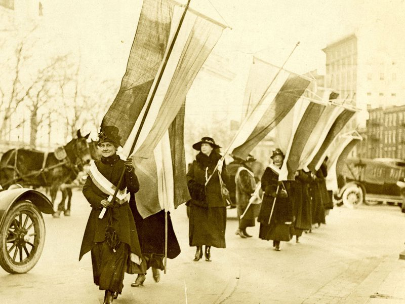 Suffrage procession