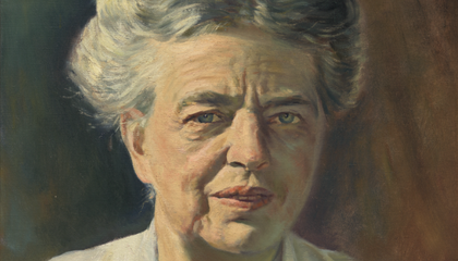 Eleanor Roosevelt by Bernard T. Frydrysiak, 1946; Oil on canvas; Ford and Marni Roosevelt