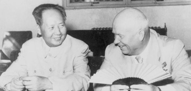 Khrushchev and Mao meet in Beijing