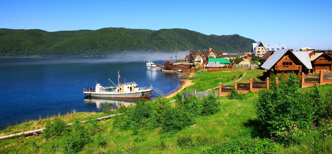 Village along Lake Baikal