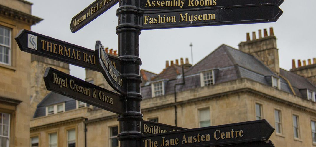 Signpost in Bath