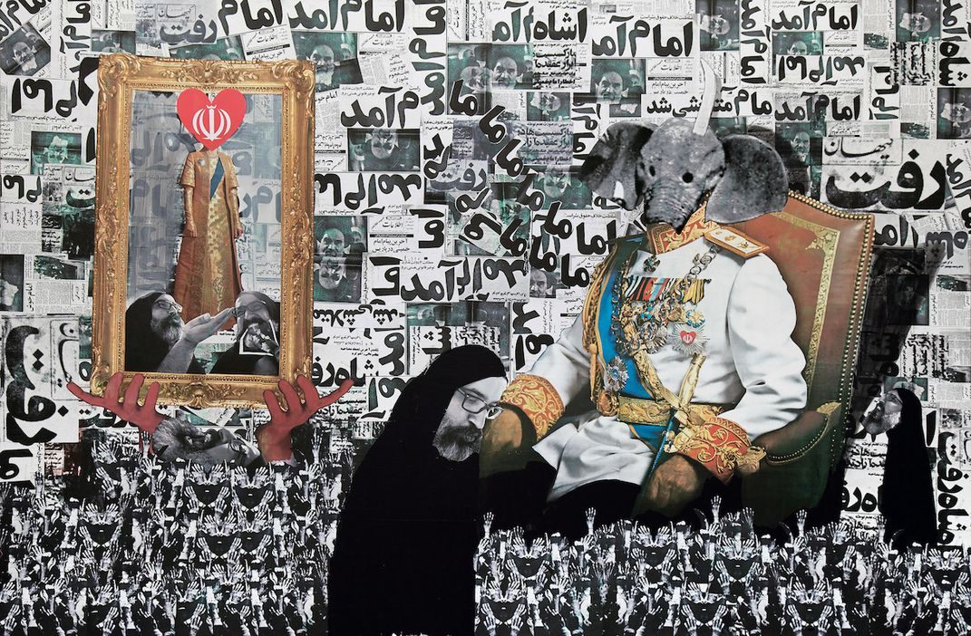 exhibition shows how iran s present and past merge through art