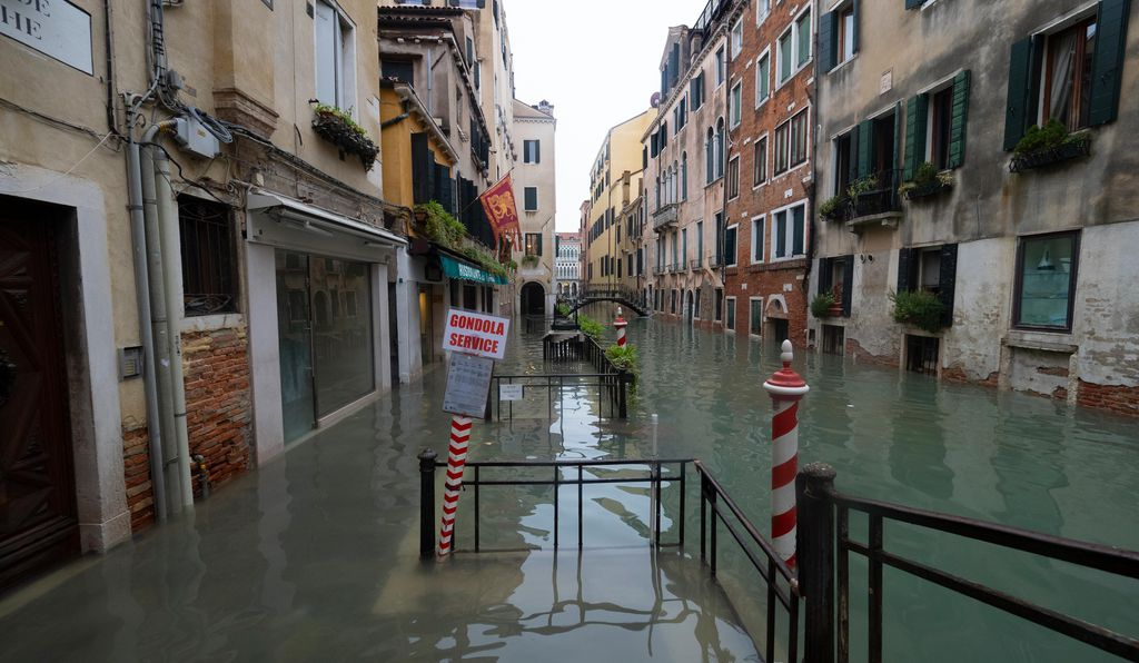Venice suffers worst flooding in 50 years.