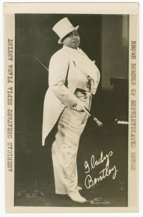Gladys Bentley photographic postcard