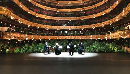 Audience of Plants Roots for Barcelona Opera House on Opening Night