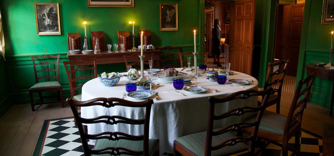 The family dining room at Mount Vernon. Credit: Mount Vernon