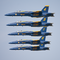 Our Blue Angels on a low, stacked pass