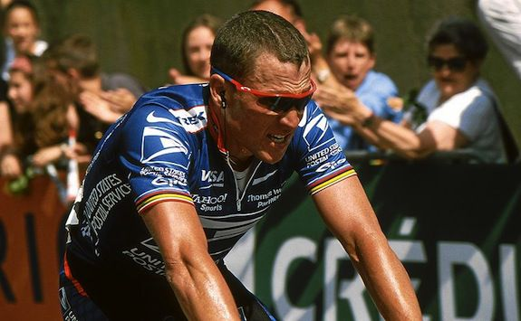 Armstrong riding in 2002