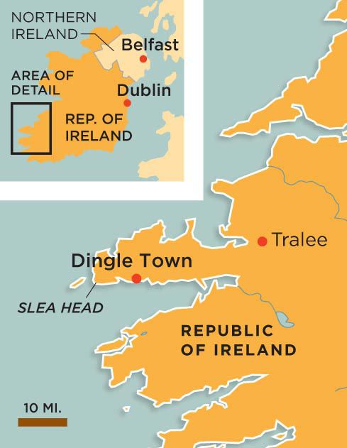 Dingle Ireland map