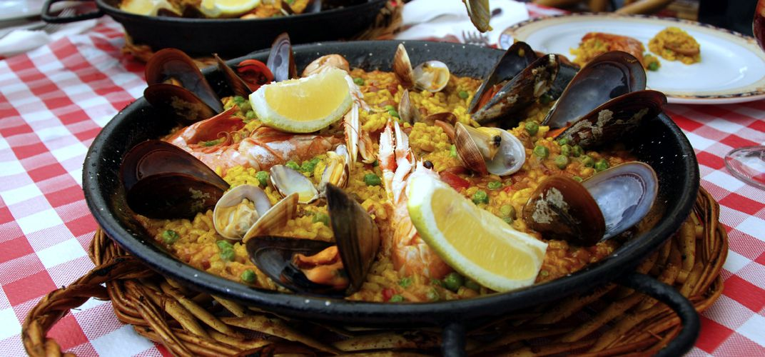 Traditional Spanish culinary delights include seafood paella