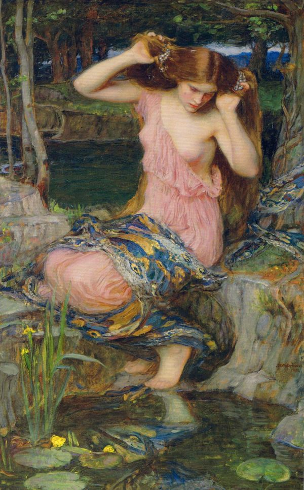 A 1909 painting of Lamia by artist John William Waterhouse