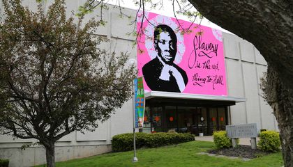 "Giant Harriet Tubman ""Yarn Bomb"" Portrait Debuts in Upstate New York"