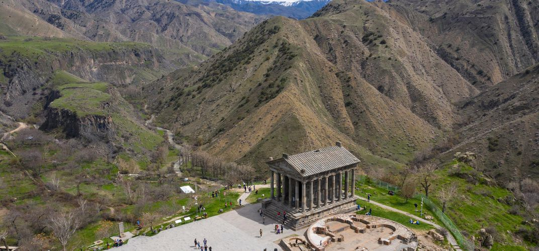 Garni Temple, amid the mountains of Armenia