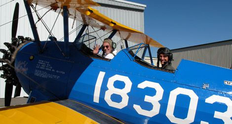 Up in the Sky! Tuskegee Airmen Plane Barnstorms Into the