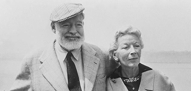 Ernest Hemingway with his wife Mary