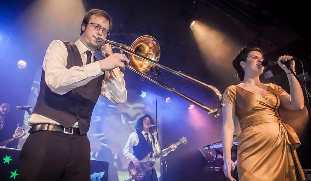 The Seattle-based electro swing band Good Co. performed at the event.