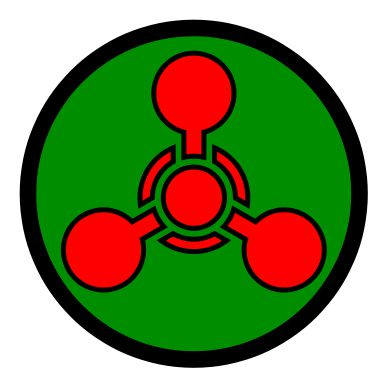 The symbol for chemical weapons