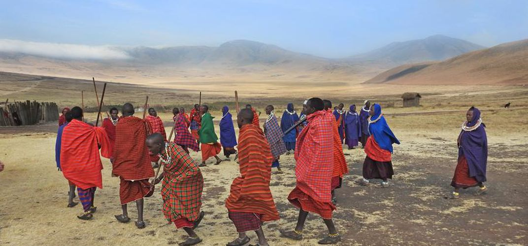 Maasai in traditional garments. Credit: Smithsonian Journeys Expert Kirt Kempter