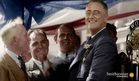 Preview thumbnail for video'Rare Footage of FDR Walking With Leg Braces