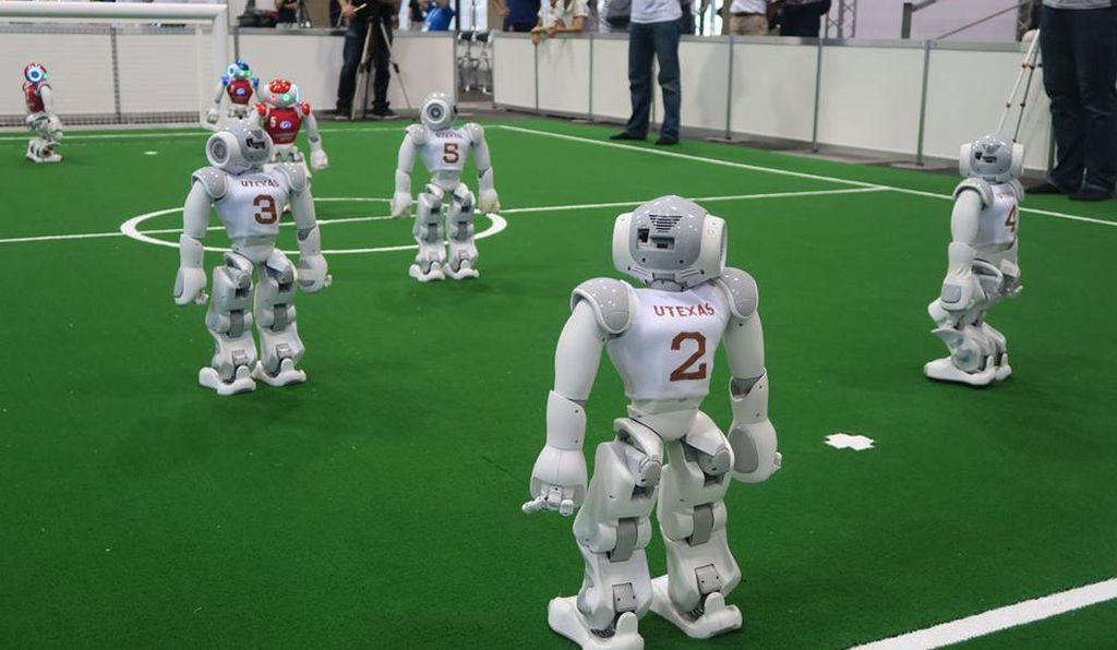 The UT Austin Villa robots in the