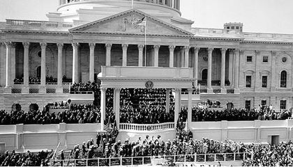 Inauguration of John F. Kennedy in 1961