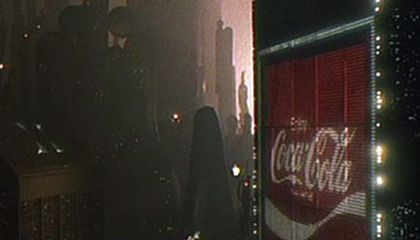 Billboard Advertising in the City of Blade Runner