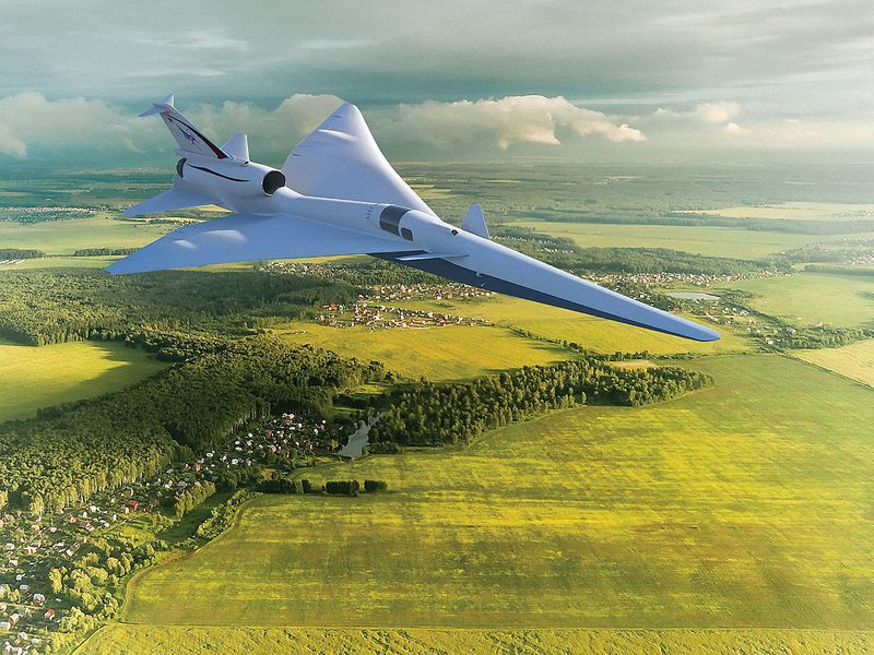 Artist's conception of the X-59 QueSST