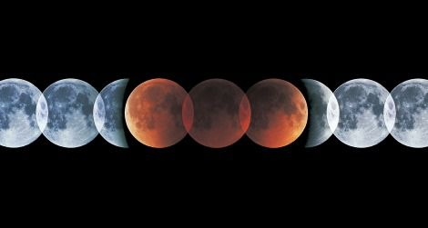 A lunar eclipse turns the moon reddish brown