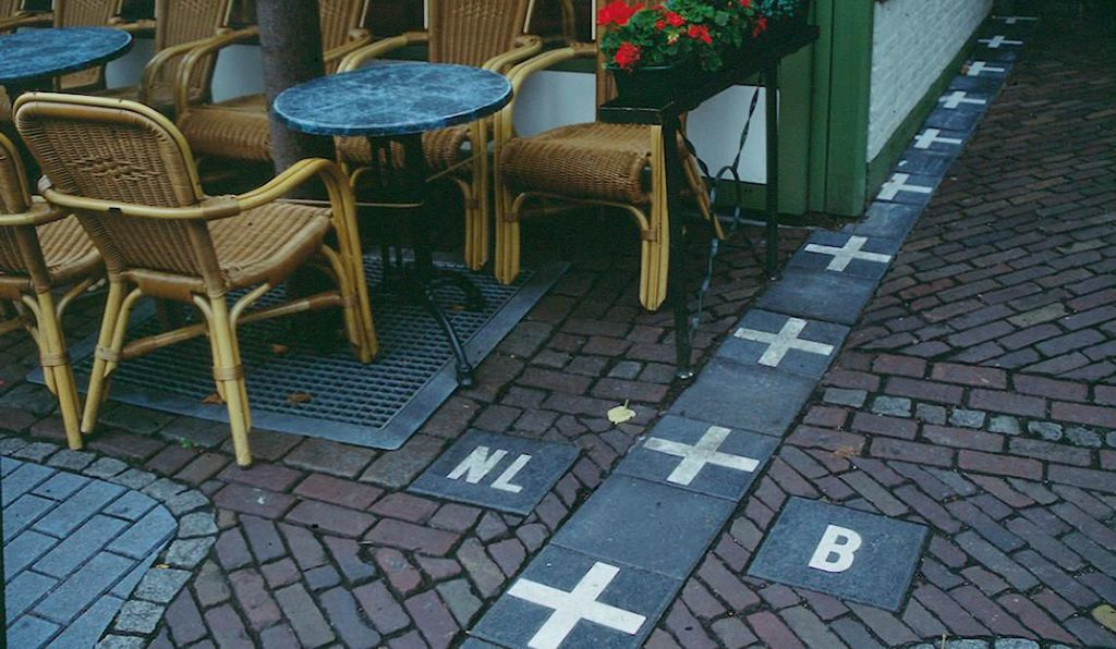 Baarle-Nassau is riddled with border crossings and shares a border with the Netherlands and Belgium.