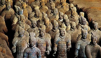 60f103dbf A traveling exhibition of China's terra cotta warriors sheds new light on  the ruler whose tomb they guarded