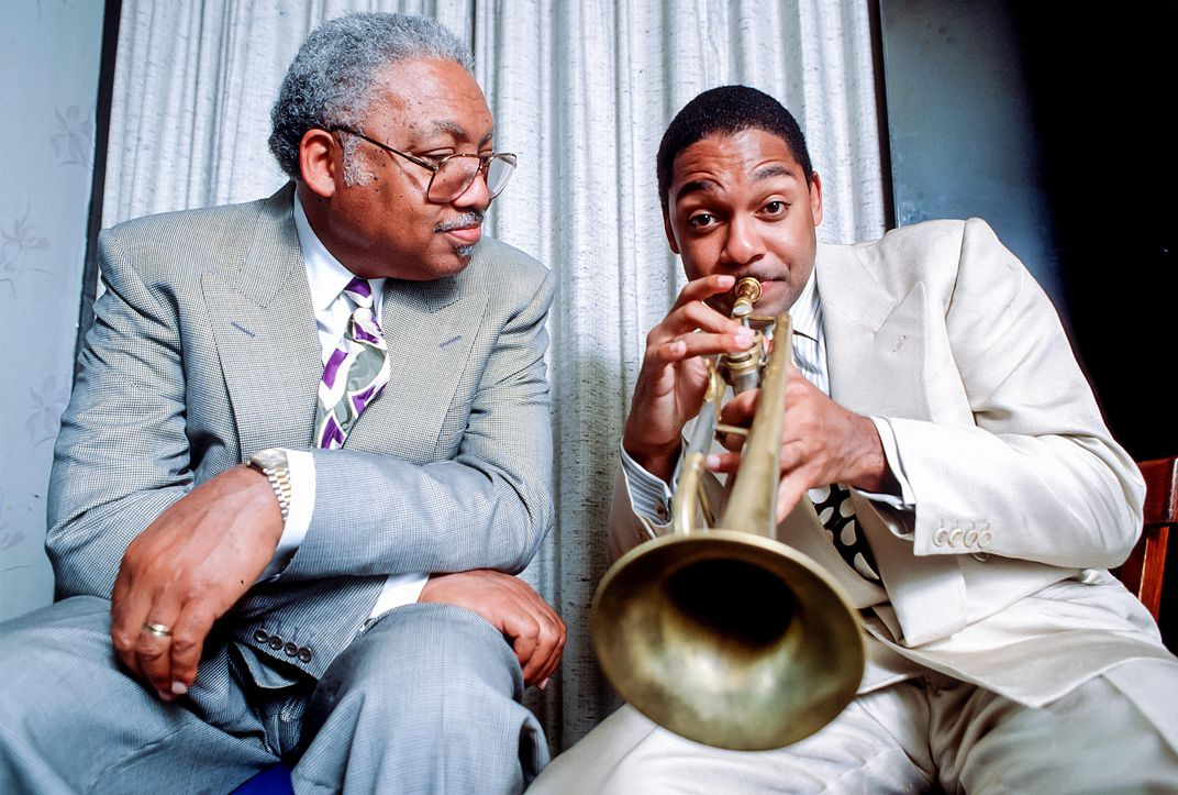 Ellis Marsalis and son